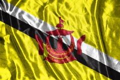Brunei Darussalam-Flagge Flagge auf Hintergrund Lizenzfreie Stockfotos