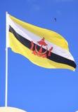 brunei darussalamflagga Arkivbild