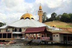 By Brunei för KampongAyer vatten Arkivfoto