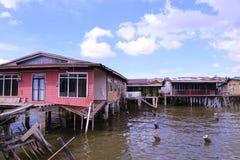 By Brunei för KampongAyer vatten Fotografering för Bildbyråer
