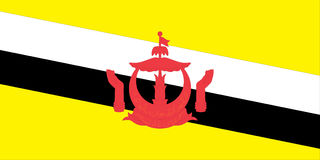 brunei flaga Zdjęcia Royalty Free