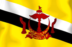 brunei flagga Royaltyfri Fotografi