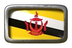 Brunei-Flaggenzeichen lizenzfreie abbildung