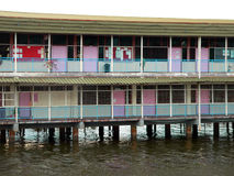 Brunei-Kapital Bandar. Kampung Ayer Schule   Stockbild