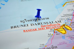 Brunei map Stock Images