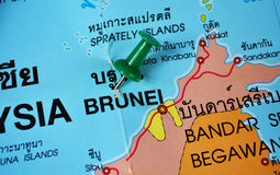 Brunei map Royalty Free Stock Photography