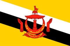 Brunei-Markierungsfahne vektor abbildung