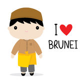 Brunei Men National Dress Cartoon Vector Stock Photo