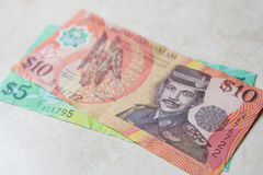 Brunei money Royalty Free Stock Photos