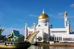 Brunei Mosque. Exterior shot of the Omar Masjid Mosque in Bandar Seri Begawan, Brunei Royalty Free Stock Photography