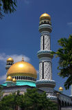 Brunei Mosque minaret. Sultanate of Brunei Minaret and dome of the Jame'asr Hassanil Bolkiah Mosque in the capital Bandar Seri Begawan Stock Images