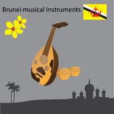 Brunei musical Instruments. Vector illustration Stock Photography