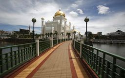 Brunei national mosque. Brunei's landmark, national mosque Sultan Omar Ali Saifuddin Mosque royalty free stock photography