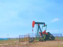 Brunei Oil Industries petroleum on shore land pump royalty free stock photography