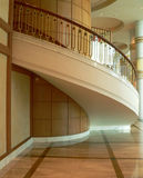 Brunei. Open Stairwell. Open Stairwell showing rear of Curved Staircase royalty free stock image