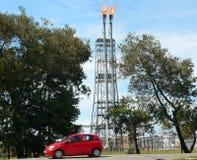 Brunei. Refinería del petróleo crudo Imagen de archivo libre de regalías
