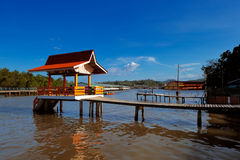 Brunei's famed water village Royalty Free Stock Photography