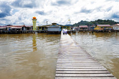 Brunei's famed water village Royalty Free Stock Photos