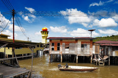 Brunei's famed water village Stock Photography