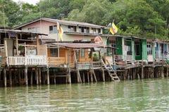 Brunei's water village called Kampong Ayer in Bandar Seri Begawan Royalty Free Stock Photography