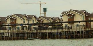 Brunei's water village called Kampong Ayer in Bandar Seri Begawan Royalty Free Stock Images