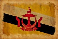 Brunei-Schmutzflagge stock abbildung