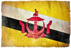 Brunei-Schmutzflagge lizenzfreie abbildung