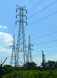 Brunei. Three Pylons & Burn-Off Stock Photos