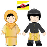 Brunei-traditionelles Kostüm Lizenzfreie Stockbilder