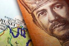 Brunei valuta & översikt royaltyfria bilder