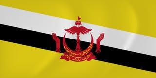 Brunei waving flag Royalty Free Stock Photos
