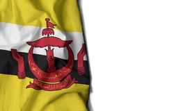 brunei wrinkled flag, space for text Royalty Free Stock Images