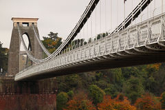Brunel Bridge in the Fall Royalty Free Stock Image