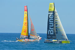 Sailing Brunel Leads Abu Dhabi In The Volvo Ocean Yacht Race Royalty Free Stock Photos