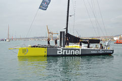 Brunel The Volvo Ocean Racer Leaving Alicante Harbour Stock Photography