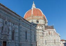 Brunelleschi佛罗伦萨大教堂` s圆顶  免版税图库摄影