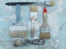 brunelleschi Εργαλεία ζωγράφων έτοιμα να χρησιμοποιήσουν Στοκ Φωτογραφία