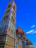 Brunelleschi's Dome With Giotto's Bell Tower - The Duomo - Florence, Italy. Brunelleschi's Dome With Giotto's Bell Tower - The Duomo in Florence, Italy royalty free stock image