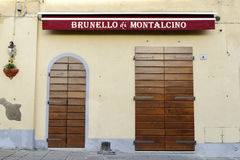 Brunello shop Royalty Free Stock Photos