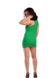 brunet kędzierzawa dziewczyny połówka przewodząca obracającą Obrazy Royalty Free