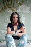 brunet kobieta domowa stara siedząca Zdjęcia Stock