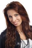 brunet kurtki portait target2650_0_ seksownej kobiety Zdjęcia Royalty Free