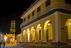 Brunet Palace by night, Trinidad, Cuba Royalty Free Stock Images