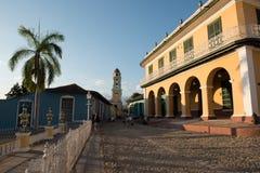 Brunet Palace in Plaza Mayor stock image