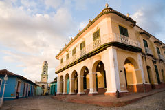 Brunet Palace, Trinidad. The Brunet Palace in the Plaza Mayor of Trinidad in Cuba Stock Images