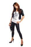 brunet target2633_0_ portfel seksownej kobiety Zdjęcie Royalty Free