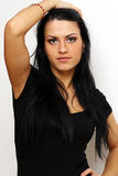 Brunete young woman Stock Photos