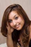 brunetkę szczęśliwe młode Obraz Stock