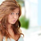 brunetka atrakcyjny portret zdjęcie stock