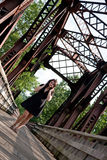 brunetka beztroska Zdjęcie Stock